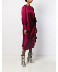 Robe mi-longue drapée L'Autre Chose en coloris Red
