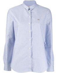 Camicia Fox di Maison Kitsuné in Blue