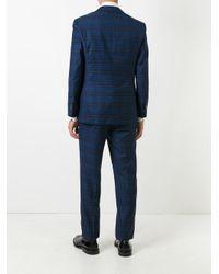 Two-piece plaid suit di Fashion Clinic in Blue da Uomo