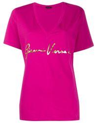Versace Pink Logo Print T-shirt