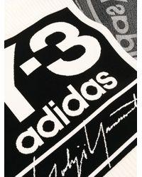 Y-3 ロゴ インターシャ スカーフ Multicolor