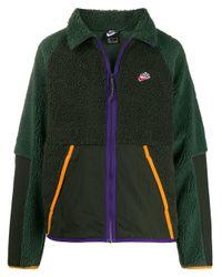 Nike Green Zip-front Fleece Sweatshirt for men