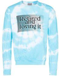 メンズ Ashley Williams Retired And Loving It スウェットシャツ Blue