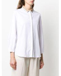 Fabiana Filippi コントラストカラー シャツ White