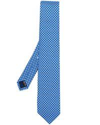 Cravate imprimée Ferragamo pour homme en coloris Blue