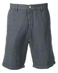 Massimo Alba Gray Chino Tailored Shorts for men