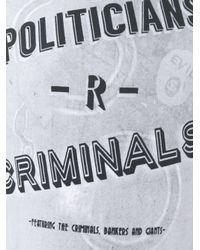 Vivienne Westwood - Gray - 'politicians/criminals' T-shirt - Men - Cotton - S for Men - Lyst
