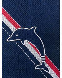 Cravatta Dolphin Icon Jacquard di Thom Browne in Blue da Uomo