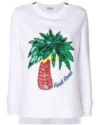 Fendi スパンコール スウェットシャツ Multicolor