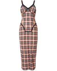 Burberry チェック コルセット ドレス Red