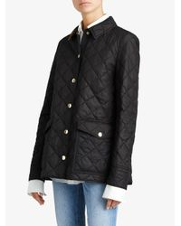 Burberry - Black Diamond Quilted Jacket - Lyst