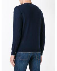 Eleventy - Blue Round Neck Jumper for Men - Lyst