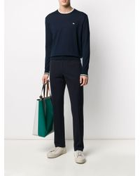 メンズ Etro コントラストトリム セーター Blue