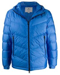 Woolrich Blue Padded Hooded Jacket for men