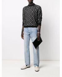 Лакированный Клатч Saint Laurent для него, цвет: Black
