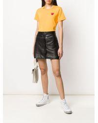 COMME DES GARÇONS PLAY ロゴ Tシャツ Yellow