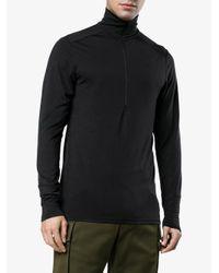 Norrona Black Merino Wool Baselayer for men