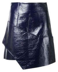 Christopher Esber Blue Wrap Skirt