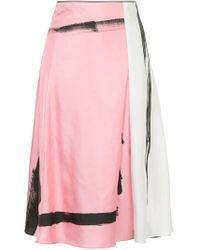 Christopher Esber カラーブロック ミディスカート Pink