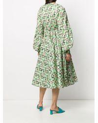 N°21 フローラル ドレス Green