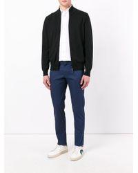Canali Zip Up Cardigan in het Black voor heren