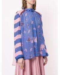 Blusa floral Grace Preen Line de color Multicolor