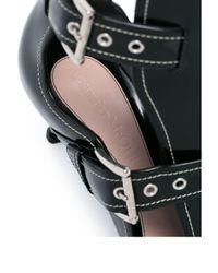 Лакированные Ботильоны С Пряжками Alexander McQueen, цвет: Black