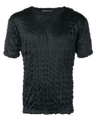 T-shirt à effet froissé Issey Miyake pour homme en coloris Black