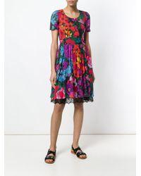 Twin Set Multicolor Floral Print Dress
