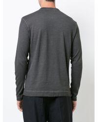 Massimo Alba - Gray Henley T-shirt for Men - Lyst