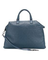 Bottega Veneta - Blue Intrecciato Tote Bag - Lyst