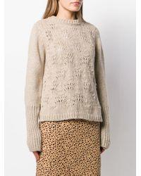 Snobby Sheep カットアウト セーター Natural