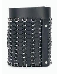 Small bucket bag di Paco Rabanne in Black