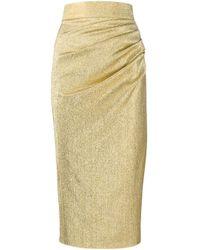 Юбка С Эффектом Металлик Dolce & Gabbana, цвет: Metallic