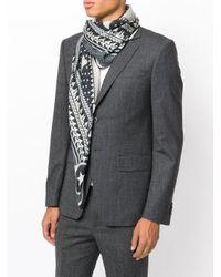 Fular estampado Givenchy de hombre de color Black