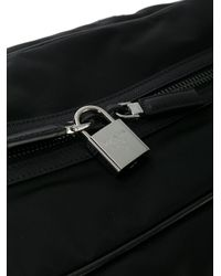 Prada - Black Saffiano Panel Holdall for Men - Lyst