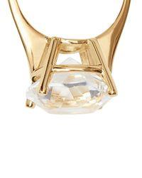 Anneaux à ornements en cristal Burberry en coloris Metallic