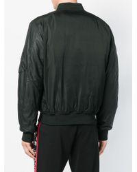 Versace Jeans Black Snap Fastening Bomber Jacket for men