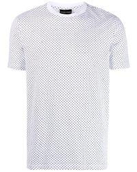 メンズ Emporio Armani クルーネック Tシャツ White