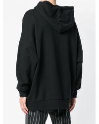 Palm Angels Black Oversized Hoodie for men