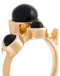 Eshvi - Black 'lava' Midi Ring - Lyst