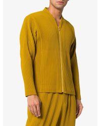 Chaqueta plisada con cremallera Homme Plissé Issey Miyake de hombre de color Yellow