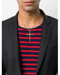 Versace - Metallic Cross Necklace for Men - Lyst