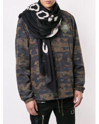Écharpe à logo imprimé Undercover pour homme en coloris Black