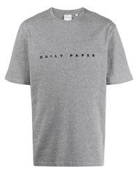 メンズ Daily Paper Alias ロゴ Tシャツ Gray