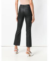 FEDERICA TOSI Black Cropped Flared Trousers