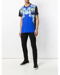 Versace Jeans - Blue Contrast Sleeve T-shirt for Men - Lyst