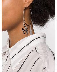 MM6 by Maison Martin Margiela Metallic Mm6 Hoop Earrings