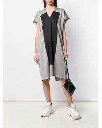 Robe droite à empiècement contrastant MM6 by Maison Martin Margiela en coloris Gray