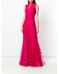 Расклешенное Платье С Вышивкой И Кружевом Givenchy, цвет: Pink